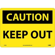 Caution, Keep Out, 10X14, Rigid Plastic