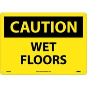 Caution, Wet Floors, 10X14, Rigid Plastic