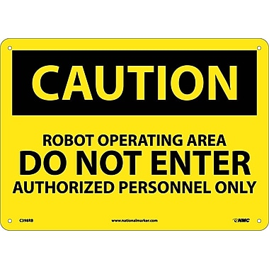 Caution, Robot Operating Area Do Not Enter, 10
