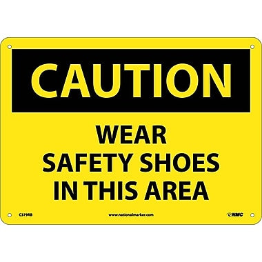 Caution, Wear Safety Shoes In This Area, 10