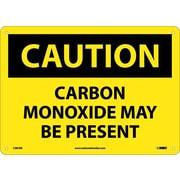 Caution, Carbon Monoxide May Be Present, 10X14, Rigid Plastic