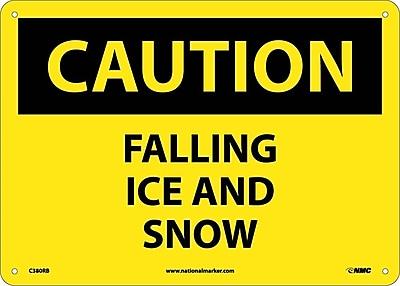 Caution, Falling Ice And Snow, 10X14, Rigid Plastic
