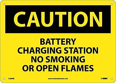 Caution, Battery Charging Station No Smoking. . ., 10X14, Rigid Plastic