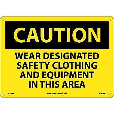 Caution, Wear Designated Safety Clothing And Equipment..., 10