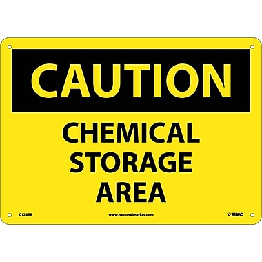 Caution, Chemical Storage Area, 10