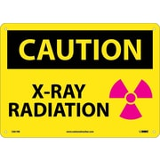 Caution, X-Ray Radiation, Graphic, 10X14, Rigid Plastic