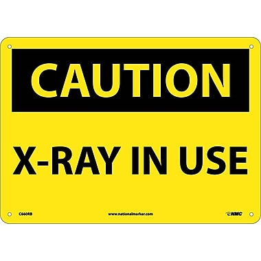 Caution, X-Ray In Use, 10X14, Rigid Plastic