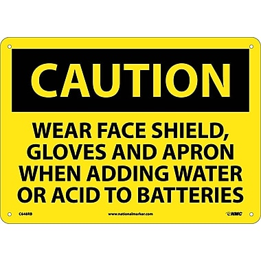 Caution, Wear Face Shield Gloves And Apron When Adding Water Or Acid To Batteries, 10