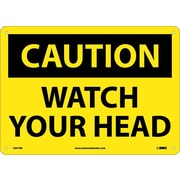 Caution, Watch Your Head, 10X14, Rigid Plastic