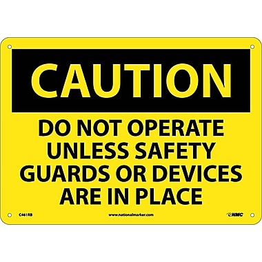 Caution, Do Not Operate Unless Safety Guards Or Devices Are In Place, 10