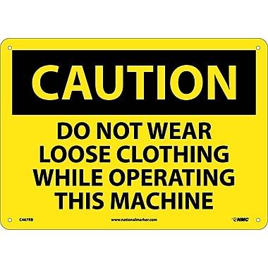 Caution, Do Not Wear Loose Clothing While Operating This Machine, 10