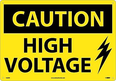 Caution, High Voltage, Graphic, 14X20, Rigid Plastic