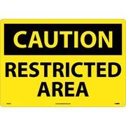 Caution, Restricted Area, 14X20, Rigid Plastic