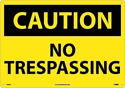 Caution, No Trespassing, 14X20, Rigid Plastic