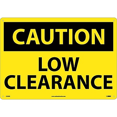 Caution, Low Clearance, 14X20, Rigid Plastic