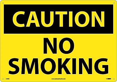Caution No Smoking, 14X20, Rigid Plastic