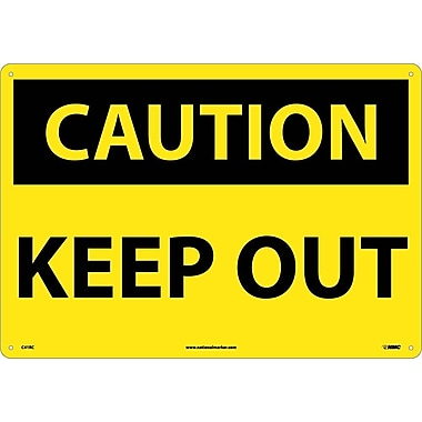 Caution Keep Out, 14X20, Rigid Plastic