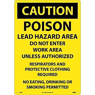 Caution, Poison Lead Hazard Area Do Not Enter Work Area..., 14