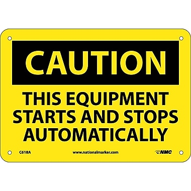 Caution, This Equipment Starts And Stops Automatically, 7