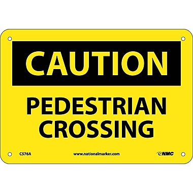 Caution, Pedestrian Crossing, 7