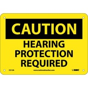 Caution, Hearing Protection Required, 7X10, .040 Aluminum