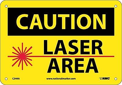 Caution, Laser Area, Graphic, 7X10, .040 Aluminum