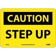 Caution, Step Up, 7X10, .040 Aluminum