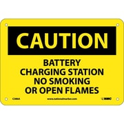 Caution, Battery Charging Station No Smoking Or Open Flames, 7X10, .040 Aluminum