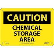 Caution, Chemical Storage Area, 7X10, .040 Aluminum
