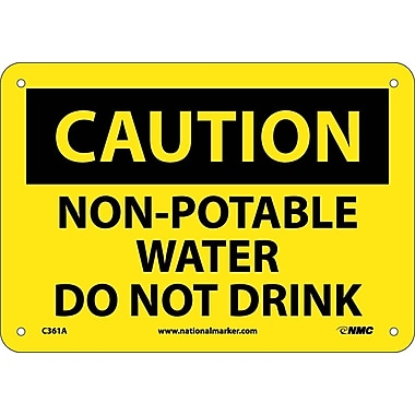 Caution, Non-Potable Water Do Not Drink, 7X10, .040 Aluminum