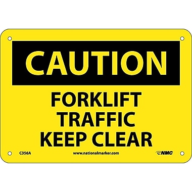Caution, Forklift Traffic Keep Clear, 7