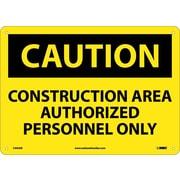 Caution, Construction Area Authorized Personnel Only, 10X14, .040 Aluminum