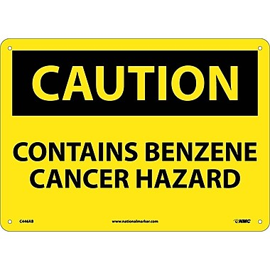 Caution, Contains Benzene Cancer Hazard, 10