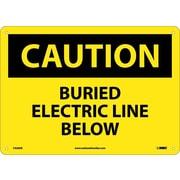 Caution, Buried Electric Line Below, 10X14, .040 Aluminum