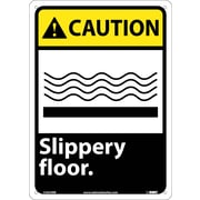 Caution, Slippery Floor, 14X10, Rigid Plastic