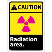 Caution, Radiation Area, 14X10, Rigid Plastic