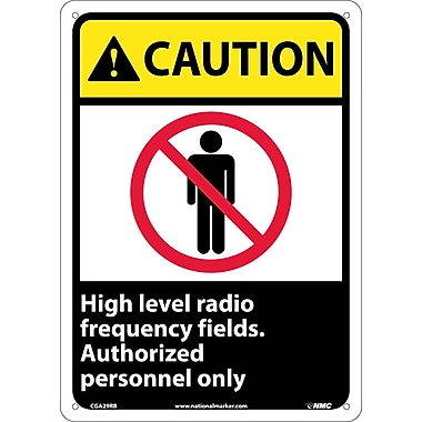 Caution, High Level Radio Frequency Fields Authorized Personnel Only, 14