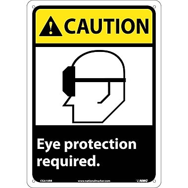 Caution, Eye Protection Required with Graphic, 14