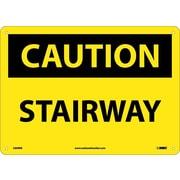 Caution, Stairway, 10X14, Rigid Plastic