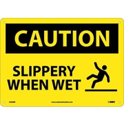 Caution, Slippery When Wet, Graphic, 10X14, Rigid Plastic