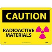 Caution, Radioactive Materials, Graphic, 10X14, Rigid Plastic