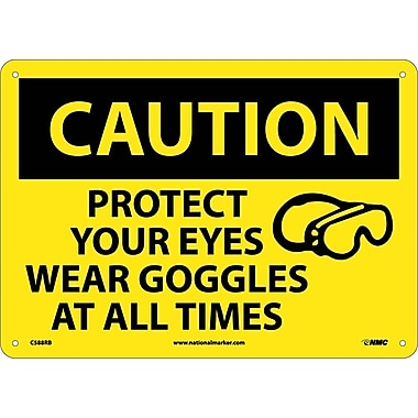 Caution, Protect Your Eyes Wear Goggles At All Times, Graphic, 10