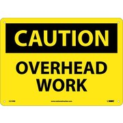 Caution, Overhead Work, 10X14, Rigid Plastic
