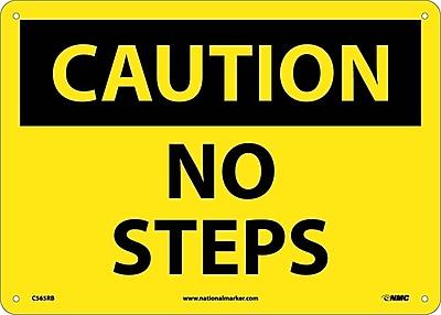 Caution, No Steps, 10X14, Rigid Plastic