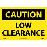 Caution, Low Clearance, 10X14, Rigid Plastic