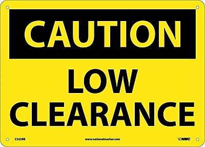 Caution, Low Clearance, 10X14, Rigid Plastic
