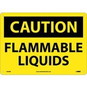 Caution, Flammable Liquids,10X14, Rigid Plastic
