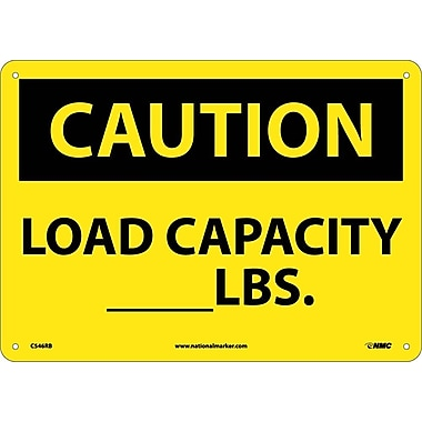 Caution, Load Capacity__Lbs., 10X14, Rigid Plastic