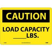 Caution, Load Capacity__Lbs., 10X14, Rigid Plastic