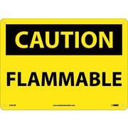Caution, Flammable, 10X14, Rigid Plastic
